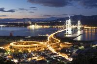 北海道 室蘭港の夜景