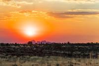 オーストラリア ウルル・カタジュタ国立公園の夕景