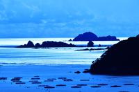 冬陽に輝く海 錦から東紀州遠望