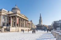 イングランド ロンドン 冬のトラファルガー広場