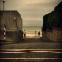 海岸付近の道路