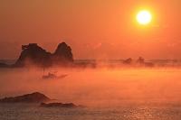 和歌山県 田原海岸の海霧