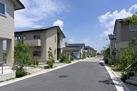 堺市 ソーラーパネルを備えた住宅街
