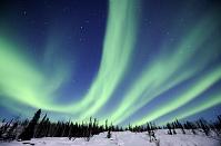 カナダ 北極 オーロラ