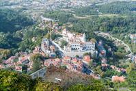 ポルトガル シントラ ムーアの城跡からシントラの王宮