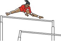 体操競技 段違い平行棒