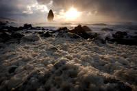 北海道 たこ岩と波の花