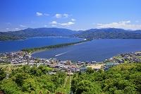京都府 新緑の傘松公園より天橋立