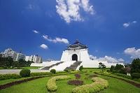 台湾 中正紀念堂と花壇 台北市