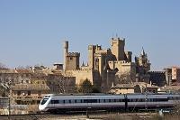 スペイン オリテ城と鉄道