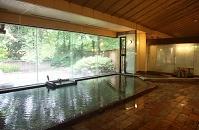 四万温泉 積善館 浴室「杜の湯」 7月 群馬県 中之条町