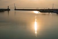 兵庫県 明石港の朝