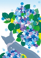 猫と花景6月