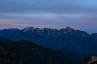 唐松岳山頂から見る剱岳