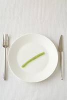 ワサビをのせた皿
