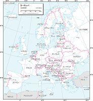 ヨーロッパ 白地図