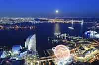 神奈川県 横浜 ランドマークタワーより望むみなとみらい