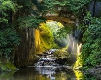 日本 千葉県 夏の清水渓流公園 濃溝の滝