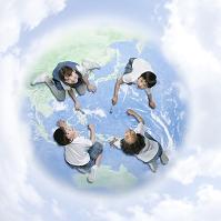 地球を描く子供