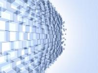 透明ブロックの壁