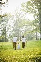 散歩する家族