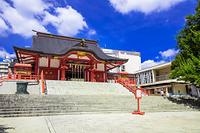 東京都 青空の花園神社