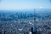 東京都 東京スカイツリー周辺より都心と富士山