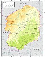 栃木県 自然図