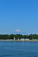静岡県 清水港 遊覧船より富士山と三保の松原