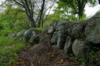 滋賀県 坂本城船着き場の石垣