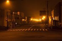 夜の田舎町