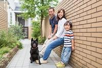 ペットと暮らす家族