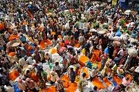 インド コルカタ フラワーマーケット