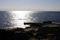 白浜 三段壁からの銀波