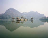 中国 五龍亭と玉屏岩