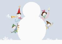 雪だるまと家族