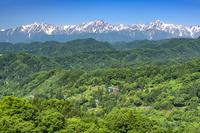 長野県 小川村と北アルプス