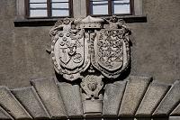 チェコ チェスキー・クルムロフ城の入口にある紋章