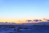 神奈川県 夕暮れの相模湾と葉山灯台