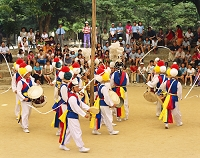 韓国 韓国民俗村・農楽(伝統舞踊)