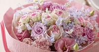 花束 ピンク バラ スプレーバラ