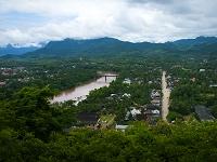 ラオス北部 プーシーの丘からの眺め