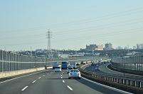 神奈川県 東名高速道路 多摩川手前