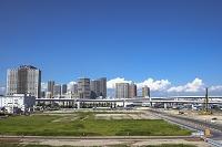 有明北地区の商業施設建設予定地と東雲のビル群