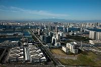 有明 東京ビックサイト周辺よりお台場,レインボーブリッジ,富士...