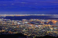 兵庫県 摩耶山より大阪湾の夜景