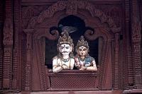ネパール カトマンズ ダルバール広場 シヴァ神とパールヴァテ...
