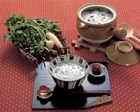 七草粥と食材