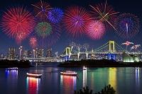東京都 お台場 夜景と花火