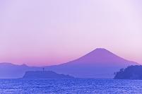 神奈川県 江ノ島 富士山 夕景